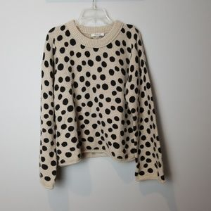 Madewell Leopard Dot Pullover Sweater Small
